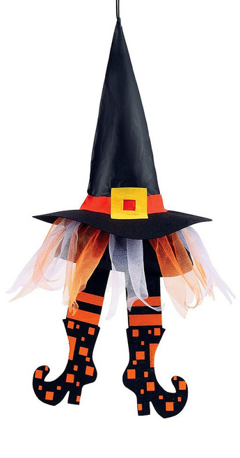 Orange Floating Witch Hats 24""