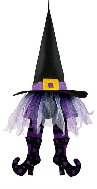 Purple Floating Witch Hats 24""