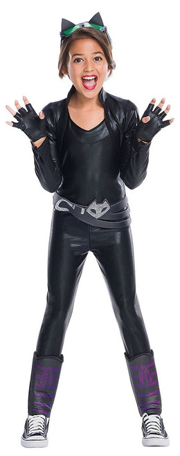 Catwoman DC Super Hero Girls Deluxe Costume for Girl