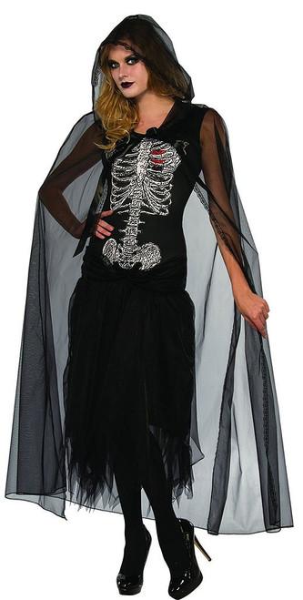 Lovely Skeleton Bride Dress with Cape