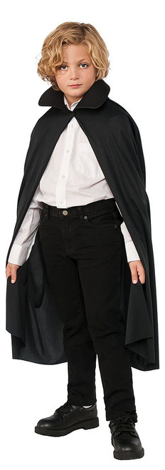 Collared Black Cape 36""