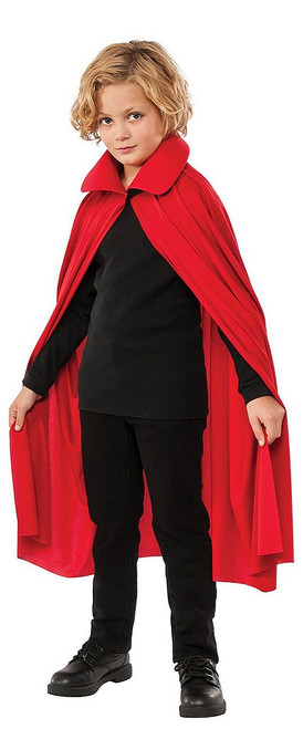 Collared Red Cape 36""