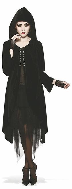 Velvet Laced-Front Robe