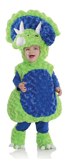 Plush Triceratops Toddler Costume