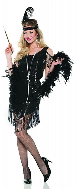 Black Sequined Flapper Costume