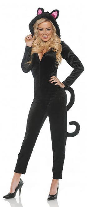 Black Cat Jumpsuit Costume