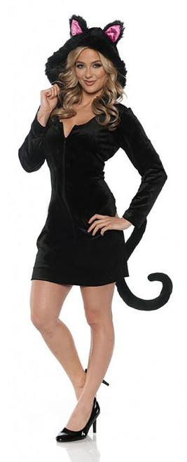 Black Cat Mini Dress