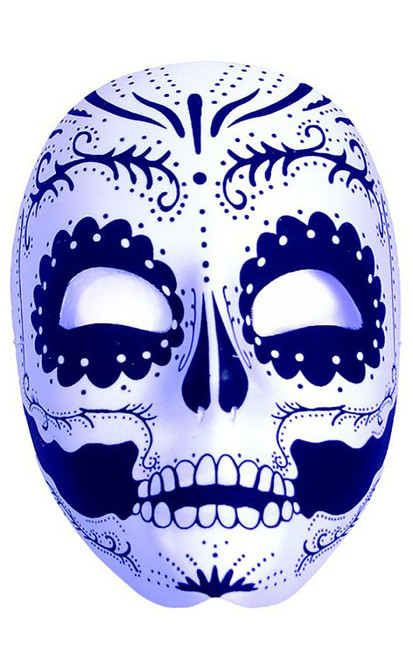 Black & White Day of the Dead Mask