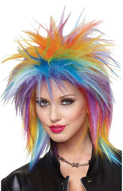 Spiky Rainbow Wig