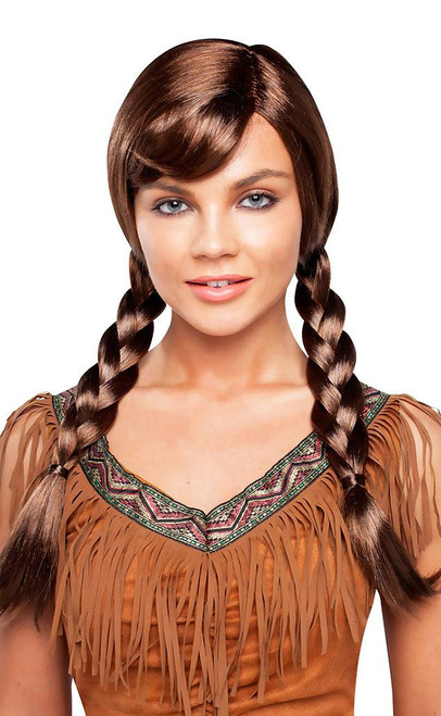 Double Braided Brown Wig