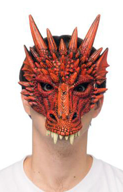Form Fitting Red Dragon Mask
