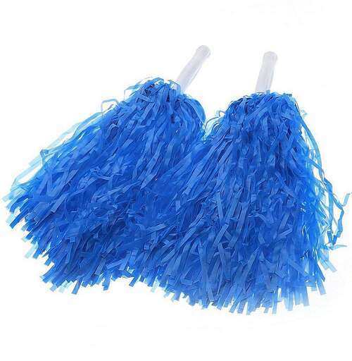 Blue Cheerleader Pom Poms
