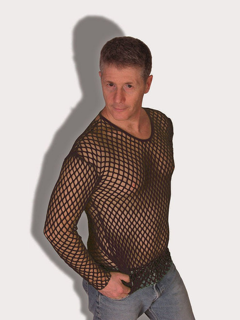 Black Fishnet 70's Shirt
