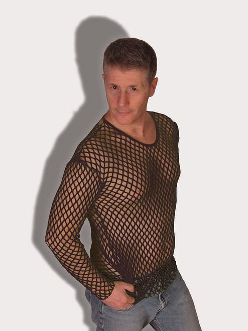 Black Fishnet 70's Shirt