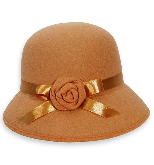 20s Tan Cloche Hat