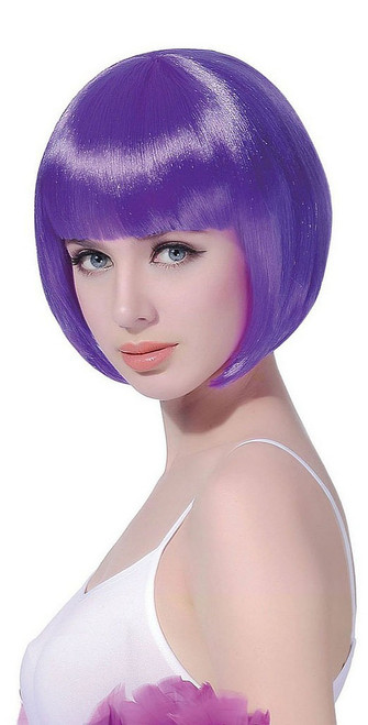 Short Bob Purple Wig