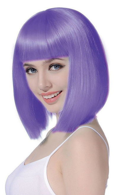 Medium Bob Purple Wig