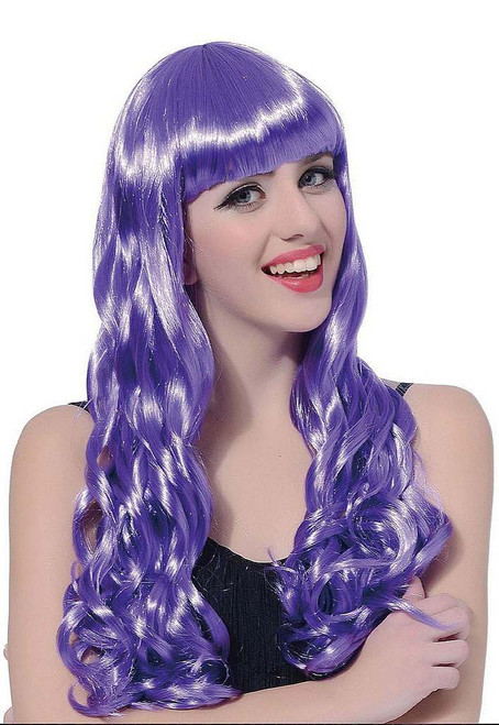 Long Curl Purple Wig