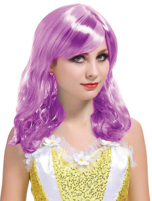 Short Curl Purple Wig