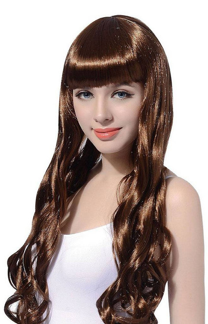 Long Curl Brown Wig