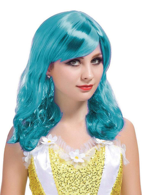 Short Curl Turquoise Wig