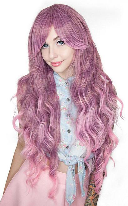 Long Wavy Rose Fade Wig