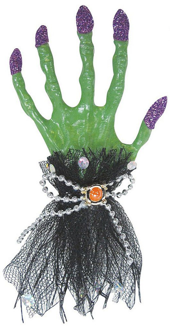 Black & Green Witch Hair Clip