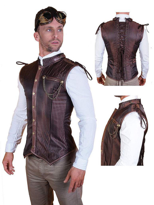 Men Steampunk Vest