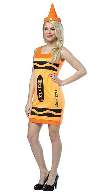 Crayola Neon Orange Tank Dress