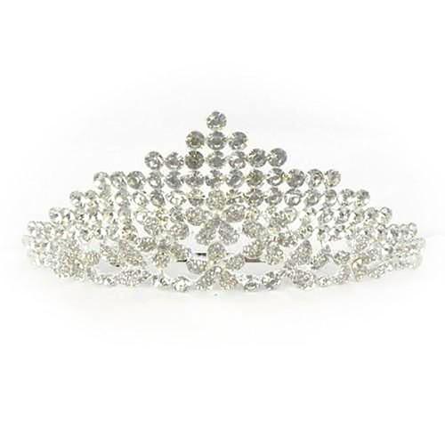 Silver Tiara Comb