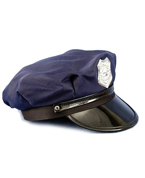 Blue Police Hat Adult