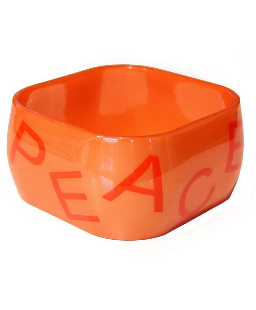 Funky Square Bangles Black & Orange