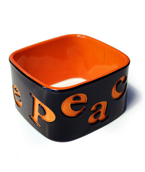Funky Square Bangles Orange