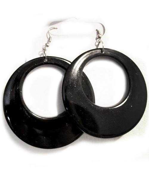 Black Mod 70s Earrings