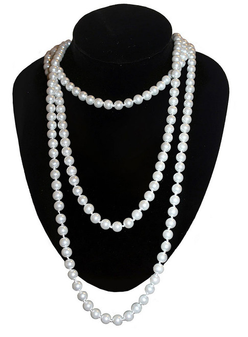 Long Pearl Necklace for Layering