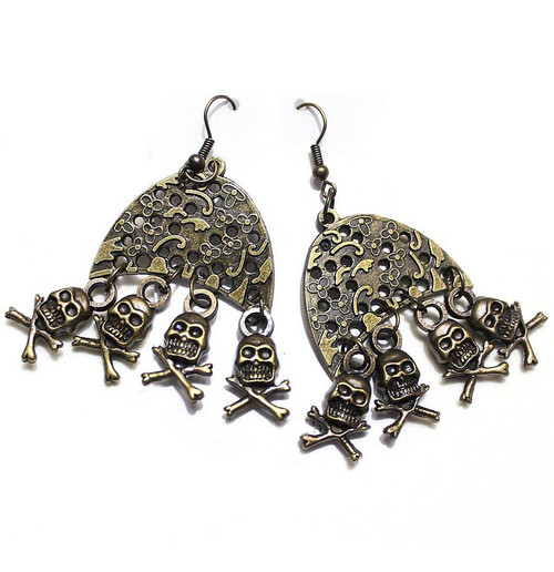 Skeleton Voodoo Earrings