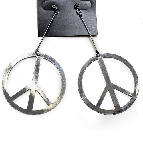 60s Silver Peace Earrings