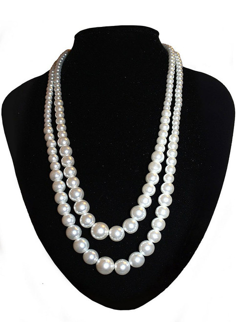 Double Stranded Pearl Necklace Set