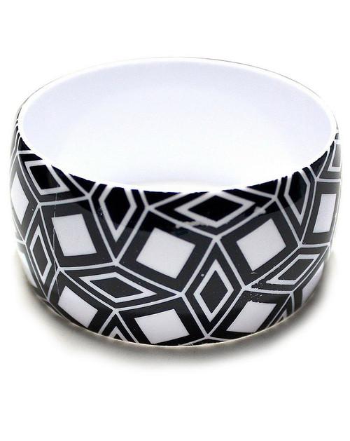 Geometric Black & White Bangles Design 2