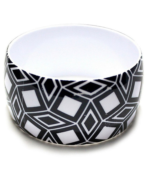 Geometric Black & White Bangles Design 2
