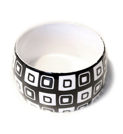 Geometric Black & White Bangles Design 1