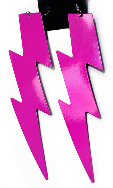80s Pink Lightning Earrings