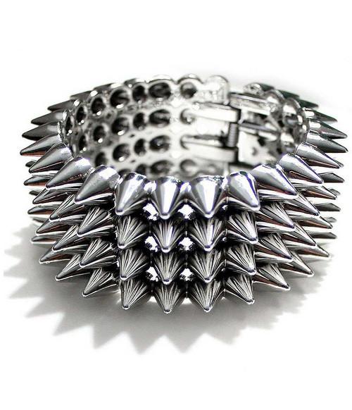 Punk Rock Bracelet Silver