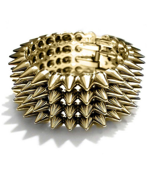 Punk Rock Bracelet Gold