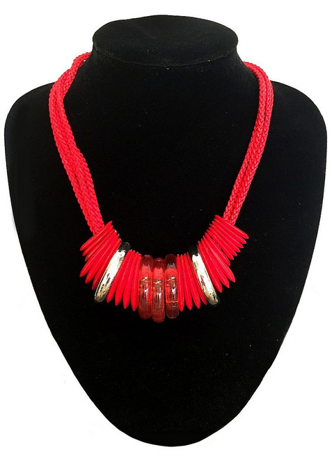 Red Ringed Necklace