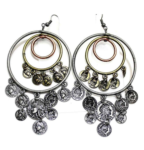Bronze Gypsy Coin Earrings