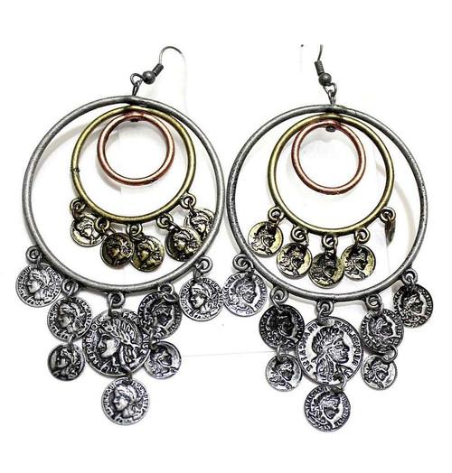 Bronze Gypsy Coin Earrings