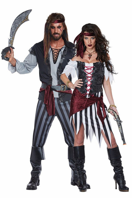 Cutthroat Pirate Couple Costume
