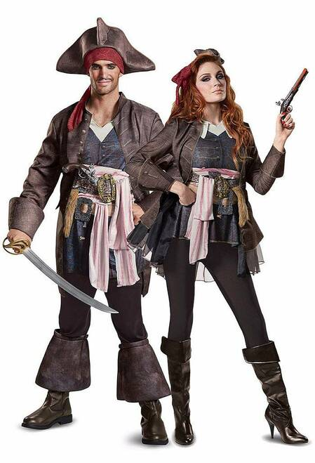 Captain Jack Sparrow Couple Costume