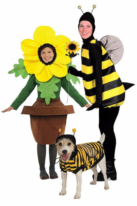 Flower & Bee Costume with Pet